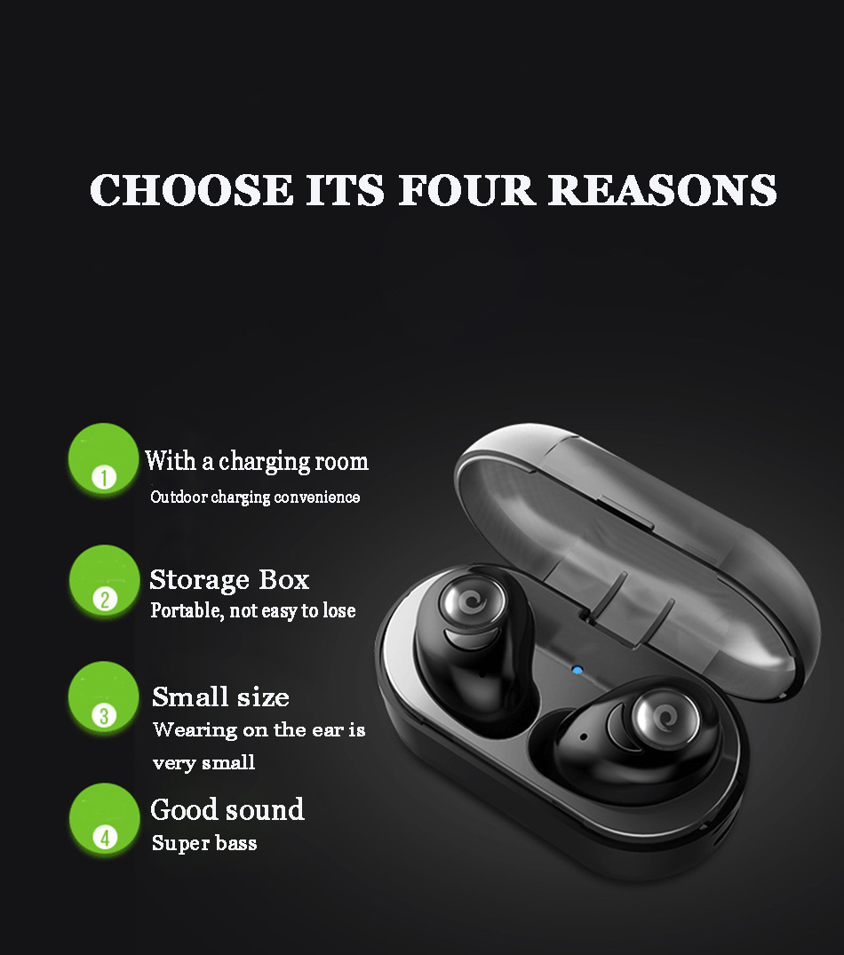 Source Factory price <strong>Bluetooth</strong> 4.1 Waterproof XPI4 True Wireless Earbuds automatic each charge playing time about 3 hours