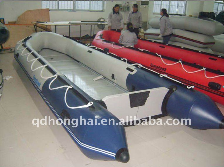 CE hh-s550 big 5.5m inflatable sport boat aluminum floor