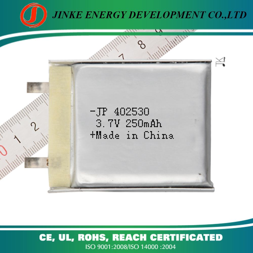 China supplier can be customized Size and 3.7v Nominal Voltage 402530 250mah 500mah rechargeable li-ion battery