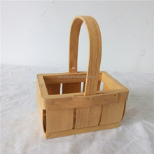 Natural small wooden gift baskets