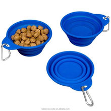 Pet products pet travel bowls expandable collapsible travel hiking dog bowls