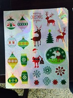newest arrive christmas wall paper murals
