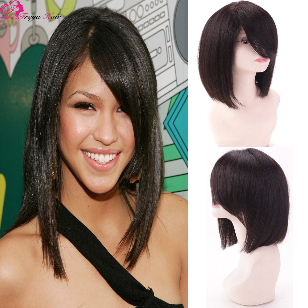 Fashion style cheap 7a vietnamese human short hair lace wig silk top