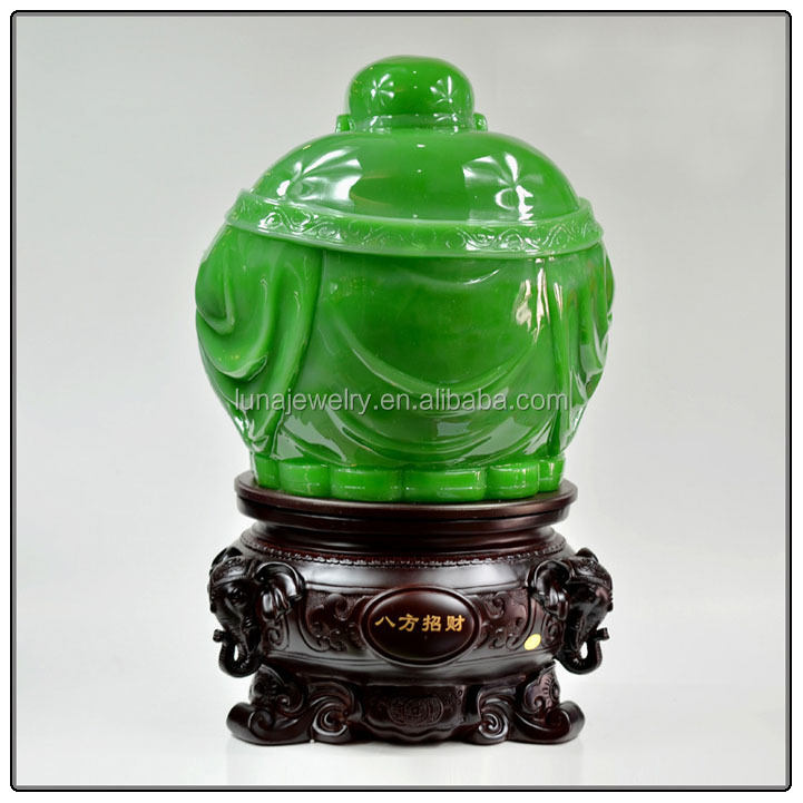 Big Size Jade color buddha statue for home decoration , chinese luckly buddha statue