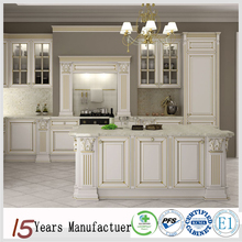 Foshan Furniture Custom Made Solid Wood Kitchen Cabinet Cupboard