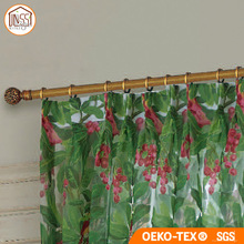 New Customized Design Printing Cotton Linen Voile Fabric Curtain
