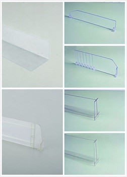 Breakable Clear Plastic Shelf T Divider