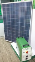 600W Portable PV solar generator with solar panel