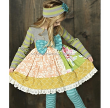 persnickety posh remake dress winter fall ruffle dress girls floral remake smocking frocks