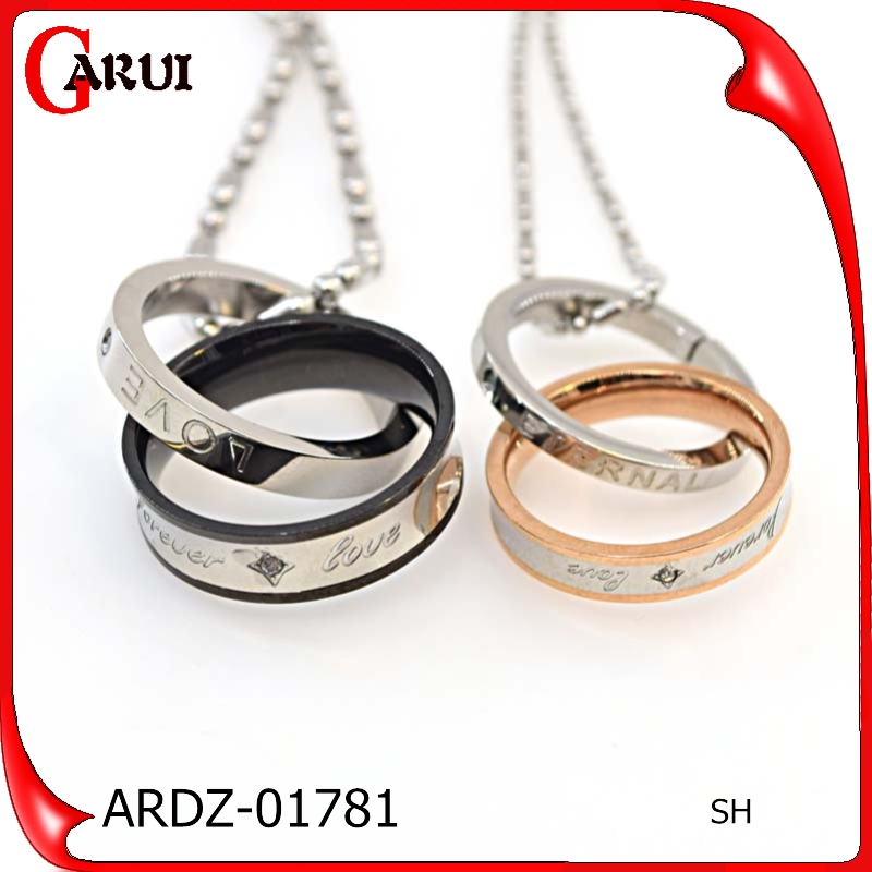 Wedding Gifts For Couple Jewellery : Wedding Gift Fashion Jewellery Pendant For Necklace Couple Rings ...
