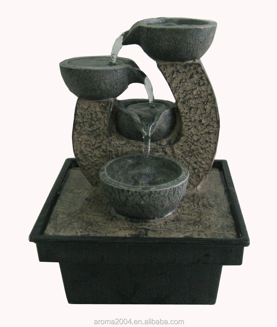 Indoor battery powered water fountain feng shui business gift