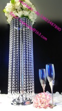Cheap gorgeous wedding table centerpieces hanging crystal for wholesale