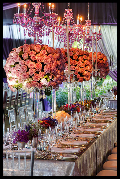 crystal centerpieces wholesale crystal glass wedding flower stands for wedding & party