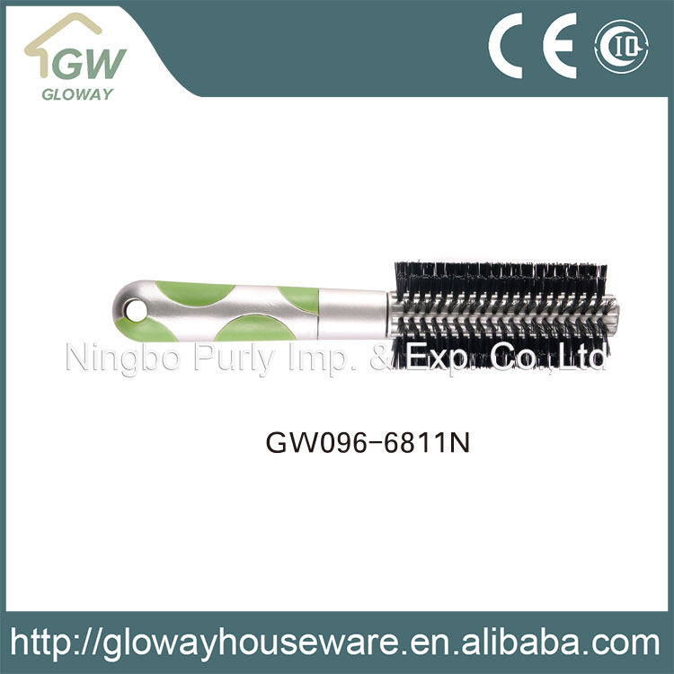 Gold supplier china plastic hair brush with boar bristle