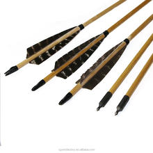 "32 Inch 5""Real Turkey Feather Wooden Grain Arrow Shafts"