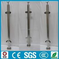 indoor 304/316 stainless steel/acrylic crystal stair handrails column
