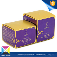 Cheap and High Quality Custom gloss lamination purple and gold beauty printed cosmetic packing box