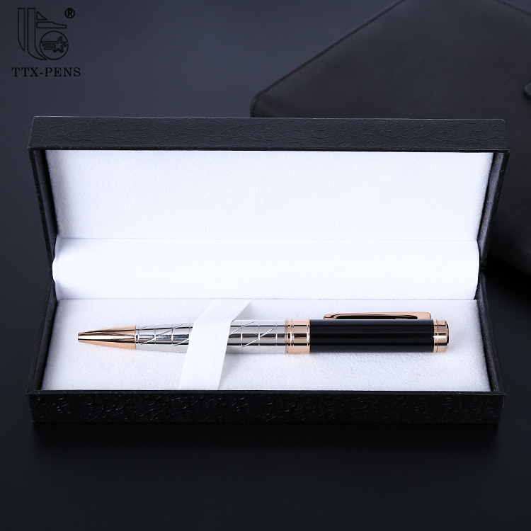 2019 Customized office set gift itemes logo pen gold metal ball pen