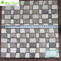 Hot Sale Emperador Light and Cream Marfil Marble Mosaic Tile