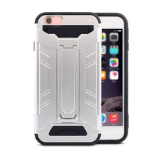 Full Body Bumper PC Plastic Mobile Phones Cases With Kick Stand Holster Cover For 7 Phones For I6