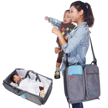 Outdoor Baby Portable Crib,Travel Foldable Baby Carry Cot Bag