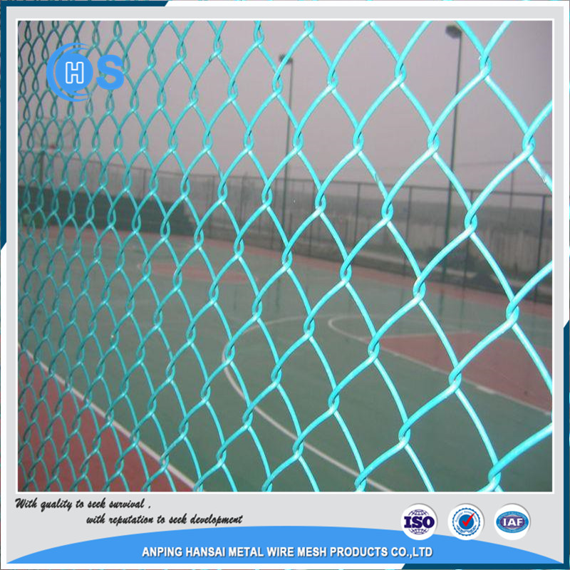 Green PVC Coated Chain Link Fence Netting/Galvanized Chain Link Fence 20-year Factory