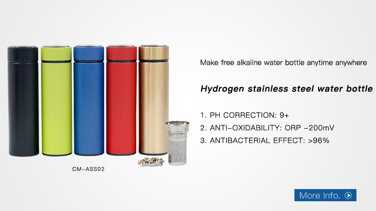 Stainless steel kangen water Maker Electronic Rechargeable hydrogen water bottle