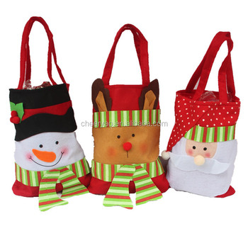 Cheap Wholesale Candy Bag New Design Decorative Holiday Shopping Christmas Gift Handbag