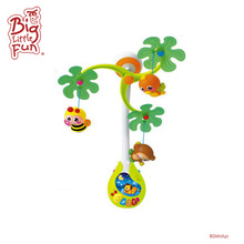 Hot 2017 Huile babies bed musical hanging toys baby felt crib mobile