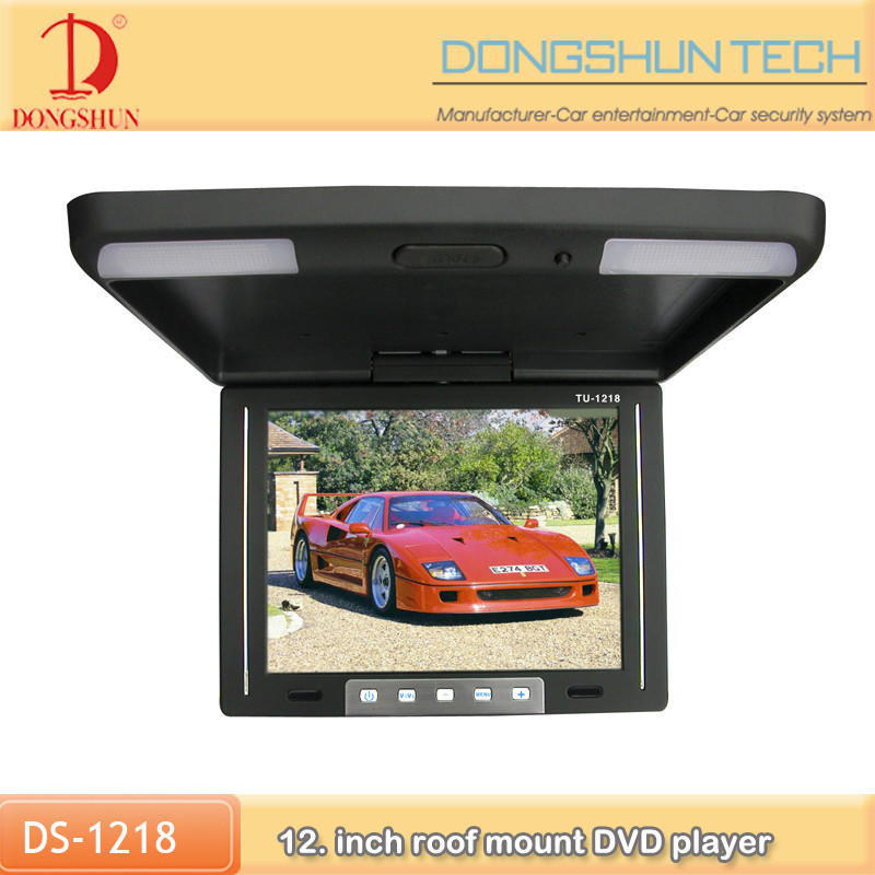 OEM manufacturer 12.1 inch car overhead dvd player with HD display with AV-in
