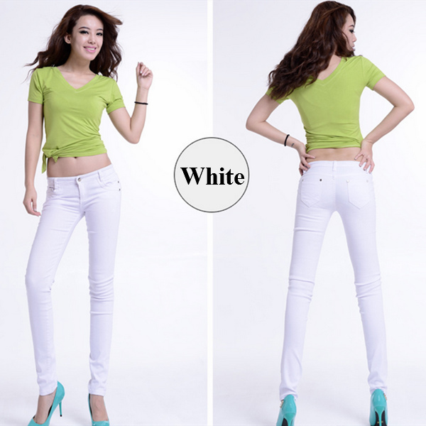 latest skinny tightly slim sexy show cotton spandex 19 kind of coloured girl jeans