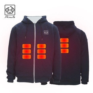 Winter Rechargeable Battery Powered Electric Fleece Heated Hoodie Jacket