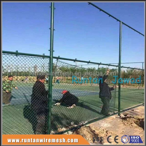 Used chain link mesh fence with high quality PVC Vinyl Covered coated Wire fabric