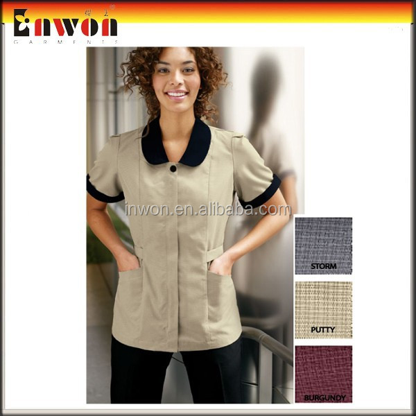 100% Polyester Hotel Housekeeping Uniform