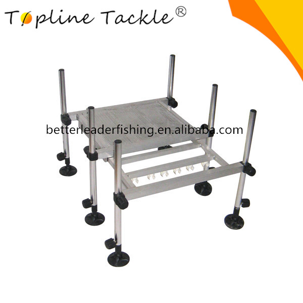 Aluminum platform with telescopic legs