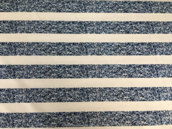 blue white stripe print knitted fabric for t-shirt
