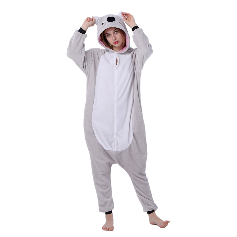 Koala onesie pajamas cartoon adults costume