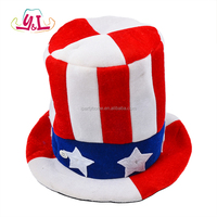 American Flag LED Light up Top Hat For 4th Of July Custom