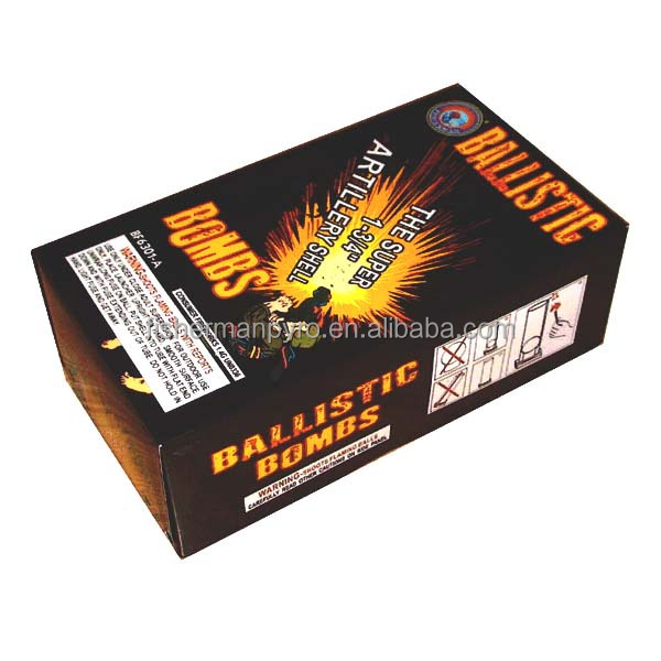 "THE SUPER 1-3/4"" ARTILLERY SHELL BF6301-A BALLISTIC BOMBS RELOADABLE SHELL FIREWORKS FOR SALE"