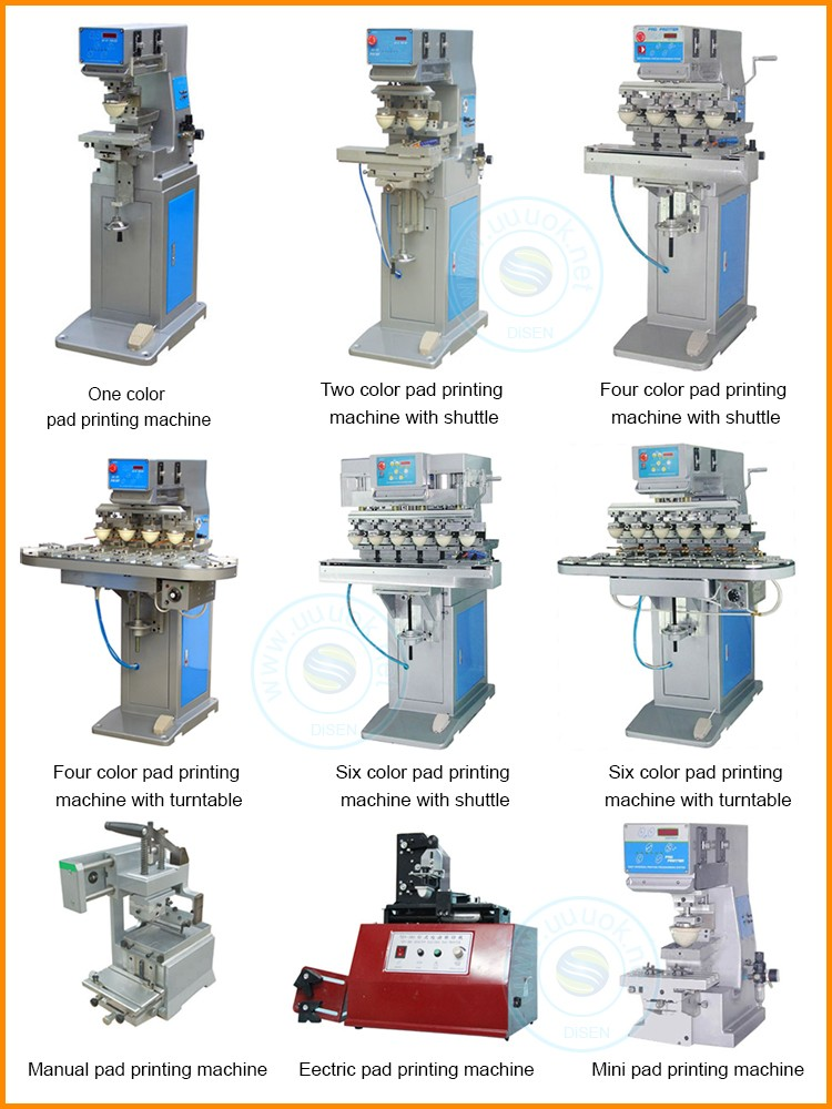 Automatic pneumatic carousel watch dial 4 color pad printing machine price