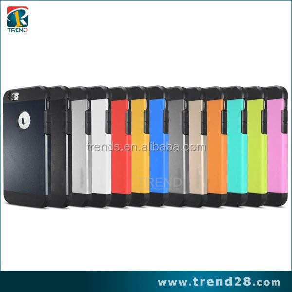 Slim fit mobile cases spi hybrid gen tpu pc phone case for iphone 6 6s