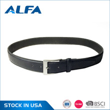 Alfa Latest Products Custom Design Your Own Split Leather Belt Luxury Men Leather Belt