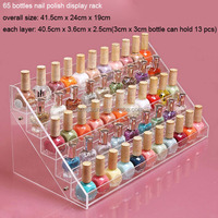 Good Craftwork Clear Acrylic 5 Tiers Makeup Nail Polish Display Holder / Comestic Organizer