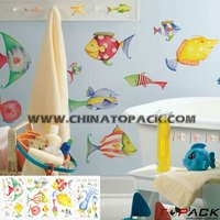 Best Selling Colorful Tropical Fish Nursery Wall Decal