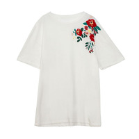 Jingyu Fashion Apparel 100 Cotton WhiteFloral