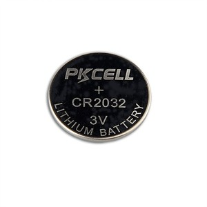 OEM or PKCELL led flashlight button cell lithium battery 3v cr2032 with solder tabs