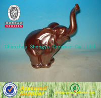 Chinese high quality craft garden ceramic elephant