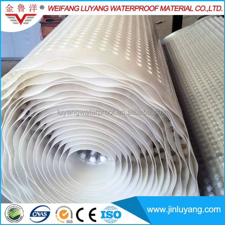 Drainage Plate Plastic Dimple Drain Board from Factory