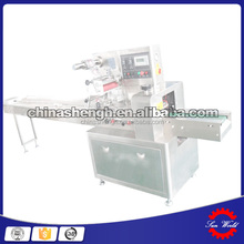 Plastic Film Automatic Bread Cake Biscuit Packing Horizontal Flow Bakery Cake Wrap Machine