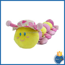 46cm long colorful caterpillars with hat plush toys